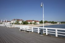 Resort town of Sopot at Baltic Sea — Stock Photo