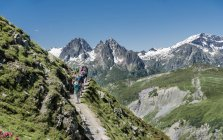 France, Chamonix,  Mountaineers at Le Tour — Stock Photo