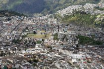 Quito  town in the mountains — Stock Photo
