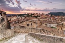 Townscape at sunset, Umbria — Stock Photo