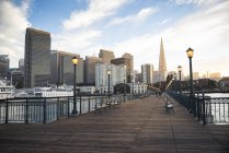 Pier 7 in the evening, San Francisco — Stock Photo