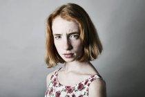 Porträt von wütenden Mädchen — Stockfoto