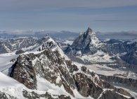 Церматт и горы Маттерхорн, Альпы, Грессоней, Италия — стоковое фото