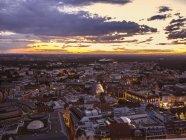 Blick auf die Altstadt bei Sonnenuntergang, leipzig, Deutschland — Stockfoto