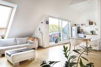 Пустой чердак квартира — стоковое фото