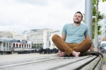 Relaxed young man — Stock Photo
