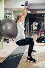 Schwangere frau Übungen — Stockfoto