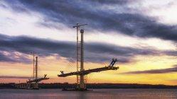 Строительство Квинсферри пересечения моста — стоковое фото