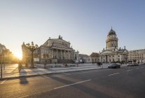Gendarmenmarkt in the evening, Berlin — Stock Photo
