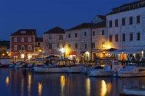 Harbour in the evening, Croatia — Stock Photo