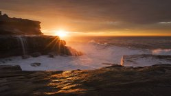 Maroubra, rocky coast at sunset — Stock Photo