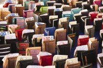 Standing Purses with banknotes, full frame — Stock Photo