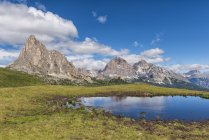 Montagne Gusela, Dolomites — Photo de stock