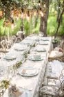 Laid table for wedding — Stock Photo