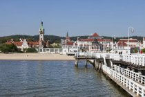 Resort town of Sopot at Baltic Sea — Stock Photo