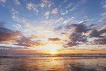 Plage de Waihi au lever du soleil — Photo de stock
