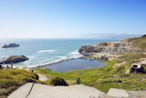 USA, Kalifornien, San Francisco, Ruinen der Sutro Baths an Sutro Heights Park — Stockfoto
