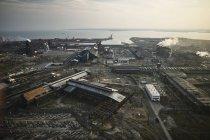 Fotografia aerea USA, Maryland, del vecchio mulino Sparrows Point in acciaio a Baltimora — Foto stock
