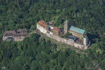 Vue aérienne de Eisenach, en Allemagne, de la Wartburg — Photo de stock