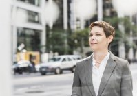 Confident businesswoman in Manhattan, USA, New York — Stock Photo