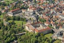 Німеччина, Веймарська, пташиного польоту Старе місто з замок — стокове фото