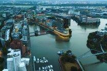Vue aérienne d'Allemagne, Duessseldorf, du port de médias — Photo de stock