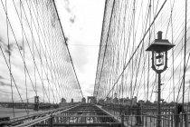 USA, New York City, part of Brooklyn Bridge — Stock Photo