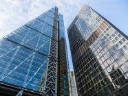 Великобританія, Лондон, Лондон, переглянути Ліденхолським будівлі у фінансовому районі — стокове фото
