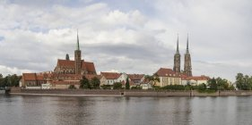 Poland, Wroclaw, Cathedral on Cathedral Island — Stock Photo