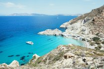 Grecia, Milos, Firopotamos Beach durante il giorno — Foto stock