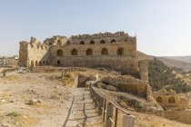 Jordan, Al-Karak, Kerak Crusader castle on hill — Stock Photo