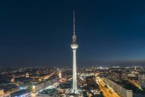 Germany, Berlin, view to television tower at night — Stock Photo