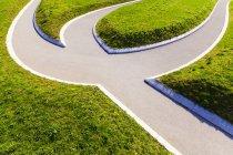 Allemagne, Stuttgart, sentier dans le parc, séparation des chemins — Photo de stock