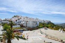 Белый город на побережье Коста-дель-Соль, Frigiliana, Андалусия, Испания, Малага — стоковое фото