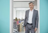 Maturo maschio manager in ufficio — Foto stock