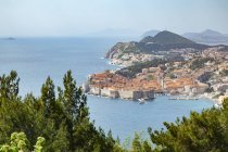 Observing view to the city from above, Dubrovnik, Croatia — Stock Photo