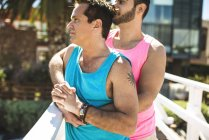 Gay couple in love outdoors — Stock Photo