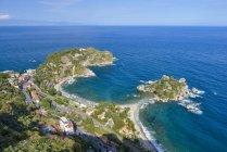 Italia, Sicilia, Taormina e Isola Bella — Foto stock
