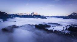 Austria, Estado de Salzburgo, Dachstein masivo, Vista desde Postalm - foto de stock