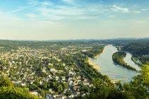 Germany, Bonn and Rhine river, Seven Mountains — Stock Photo