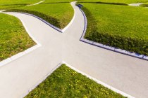 Germany, Stuttgart, path in park, parting of the ways — Stock Photo