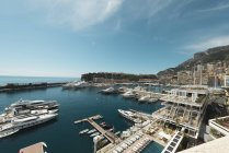 Monaco, Monte Carlo, Marina aerial view on sunny day — Stock Photo