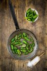 Prepared padron peppers — Stock Photo
