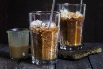 Vietnamese iced coffee with sweetened condensed milk — Stock Photo