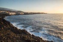 Spain, Tenerife, coast at sunrise — Stock Photo