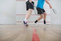 Squash, squash spielen Männer — Stockfoto