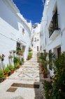 Іспанія, Андалусия, Frigiliana, типових алея денний час — стокове фото