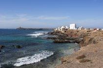Spagna, Isole Canarie, Fuerteventura, El Puertito de la Cruz, Faro di Punta de Jandia — Foto stock