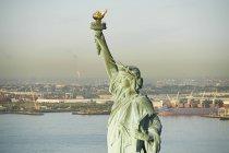 Stati Uniti d'America, stato di New York, New York City, vista della statua della libertà, New York Harbor in background — Foto stock
