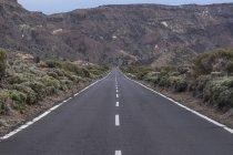 Spain, Canary Islands, Tenerife, Teide National Park, road — Stock Photo